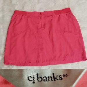Christopher & Bank cj banks skirt skort size 24w